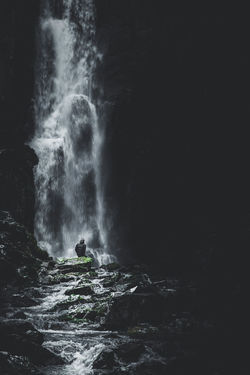 Refreshment. Location: Western Highlands, Scotland. Equipment: Fujifilm X-T2 + XF18-55. EyeEm Best Shots EyeEm Nature Lover EyeEm Selects Beauty In Nature Blurred Motion Flowing Flowing Water Land Long Exposure Moody Motion Nature Non-urban Scene One Person Outdoors People Power Power In Nature Rock Rock - Object Rock Formation Scenics - Nature Solid Water Waterfall The Great Outdoors - 2018 EyeEm Awards The Traveler - 2018 EyeEm Awards HUAWEI Photo Award: After Dark