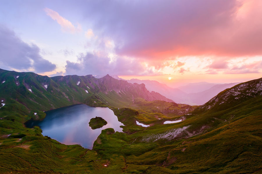 Allgäu Allgäu Alps Allgäuer Alpen Alpen Alps Bavaria Beauty In Nature Clouds Deutschland Germany Lake Landscape Mountains Nature No People Outdoors Scenic Schrecksee See Sky Summer Sun Sunset First Eyeem Photo