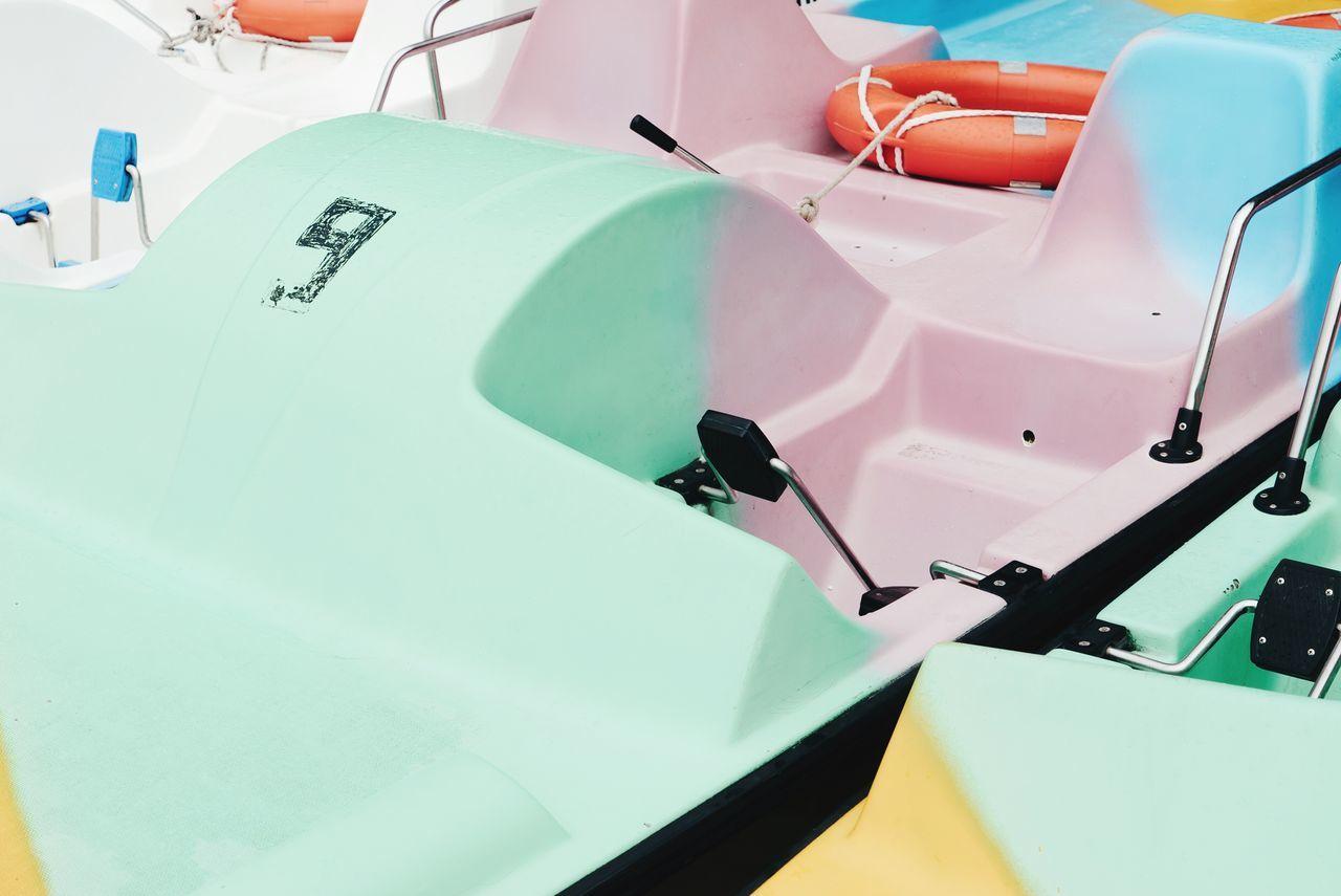Full frame shot of boats