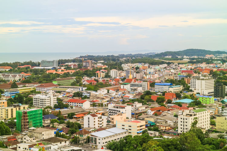 cityscape Landscape City View  City Songkhla Province Thailand Capital District City Cityscape High Angle View Business Finance And Industry Cloud - Sky Multi Colored Community Town Sky Day Outdoors No People Building Exterior