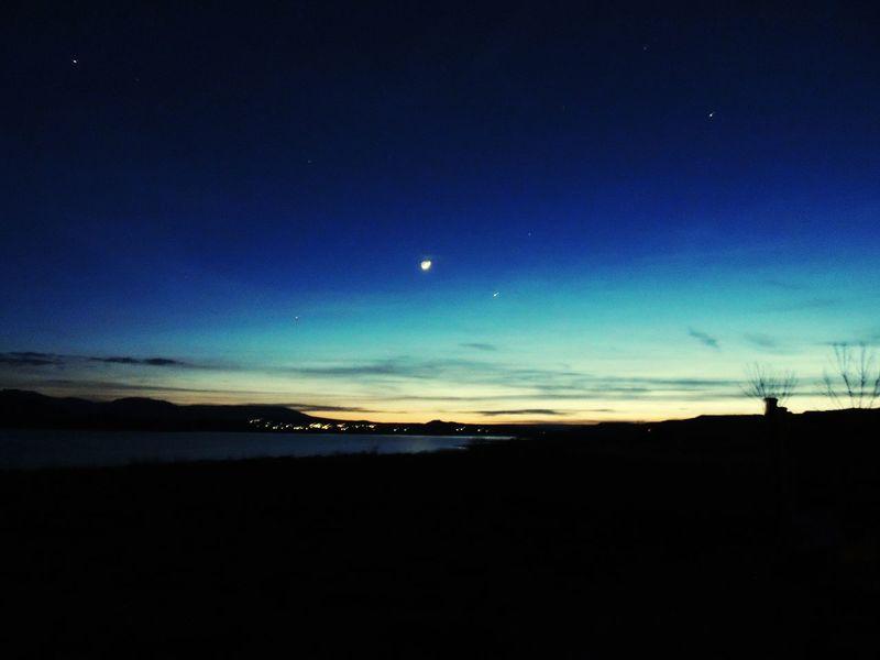 Sunset Darksky Nighttime Twinkling Lights Flaming Gorge, Utah Orange Nightphotography Landscape_photography Reflection Lake View