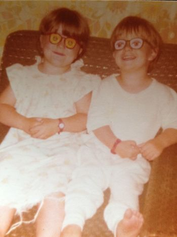 EyeEmNewHere Brother & Sister SiblingsLove❤ Silly Glasses Kids Being Kids Portrait Looking At Camera Indoors  Glasses This Is Family Cheerful Positive Emotion Eyeglasses  Two People Togetherness Smiling People Emotion Happiness Archival Retro Styled