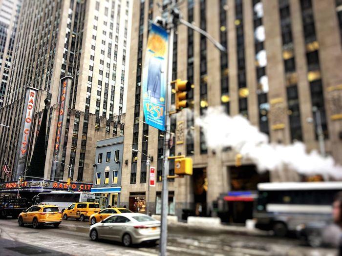New York Radio City Yellow Taxi City Taxi Car City Life Street City Street Mobility In Mega Cities