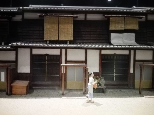 Adult Traditional Clothing People One Person Women Lifestyles Built Structure Architecture Outdoors Building Exterior Houses Close-up Japan Culture Miniature Miniatures Japan Houses Old Architecture Japan Old Street Architecture Arts Culture And Entertainment - Osaka Museum of Housing ang Living