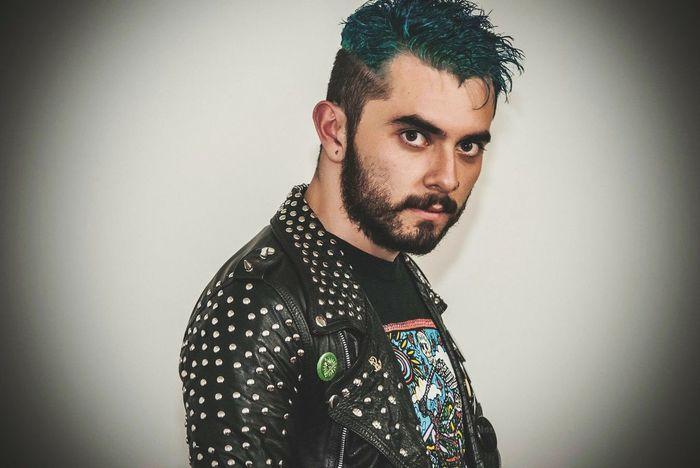 Portrait Of A Friend Retrato Portrait Punk Punkrock Attitude Nikon Leather BlueHair