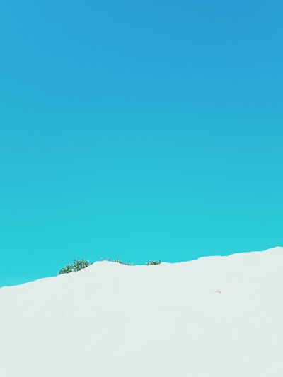 Low angle view of clear blue sky