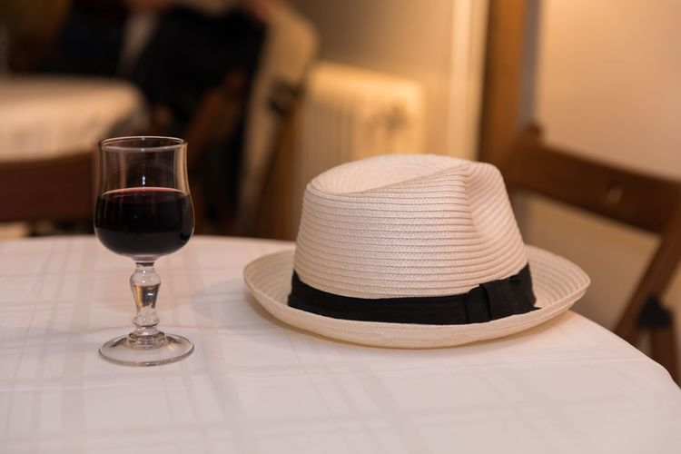 France Wine Wineglass Canotier Hat Ambiance Mood