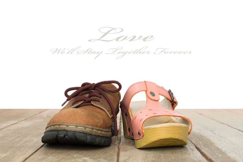 Love and Romance Concept Background Vintage Style Center View Leather Love Romance Romance ❤✨✨ Romantic Background Backgrounds Concept Conceptual Conceptual Photography  Flooring Hardwood Floor Leather Leather Shoes Love Background Love Concept Men Shoe Men Shoes Romanticism Romantic❤ Shoe Still Life Woman Shoes Women Shoes Wood