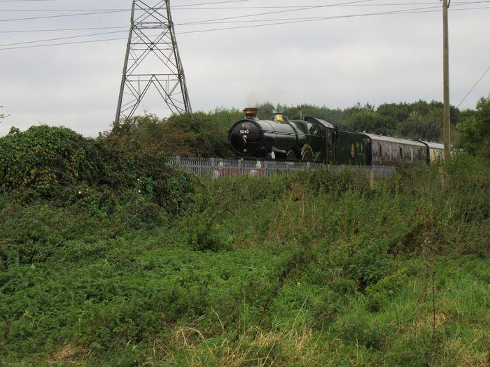 Earl Of Mount Edgcumbe GWR Castle Class Swindon Steam Steam Locomotive Electricity Pylon Transportation Mode Of Transport Landscape