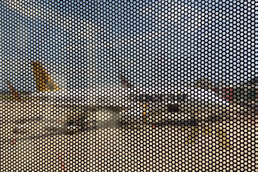 Airplane pattern Plane Airplane Airport Architecture Backgrounds Close-up Day Full Frame Grate Grid Jet Metal Grate Nature No People Outdoors Pattern Repetition Shape Sky Textured  Transportation Window