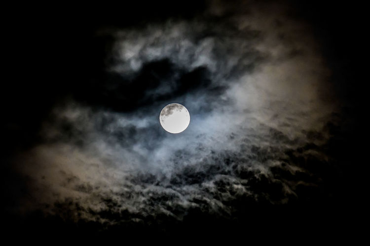 Full Moon Ominous Astronomy Beauty In Nature Cloud - Sky Clouds Low Angle View Moon Moon Surface Moonlight Nature Night No People Outdoors Planetary Moon Scenics Sculpture Sky Solar Eclipse Space Space Exploration Tranquil Scene Tranquility Moon_collection