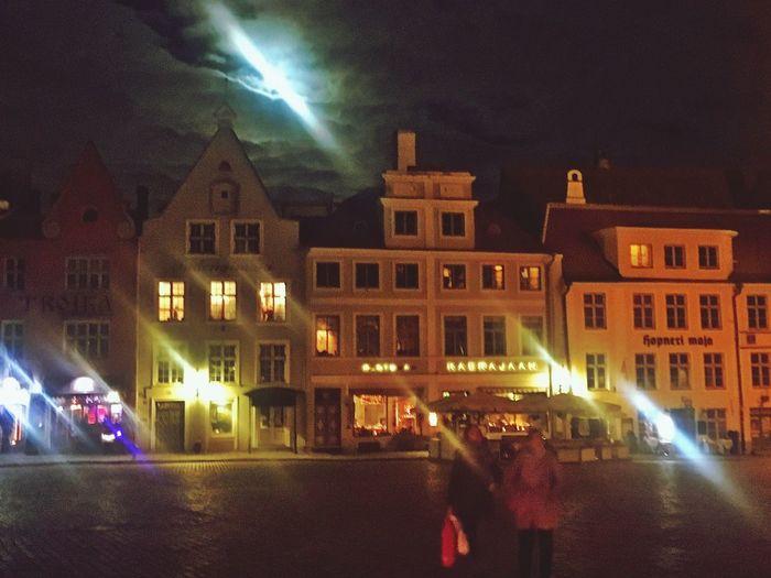 Nightphotography Illuminated Tallinn Baltics2k16