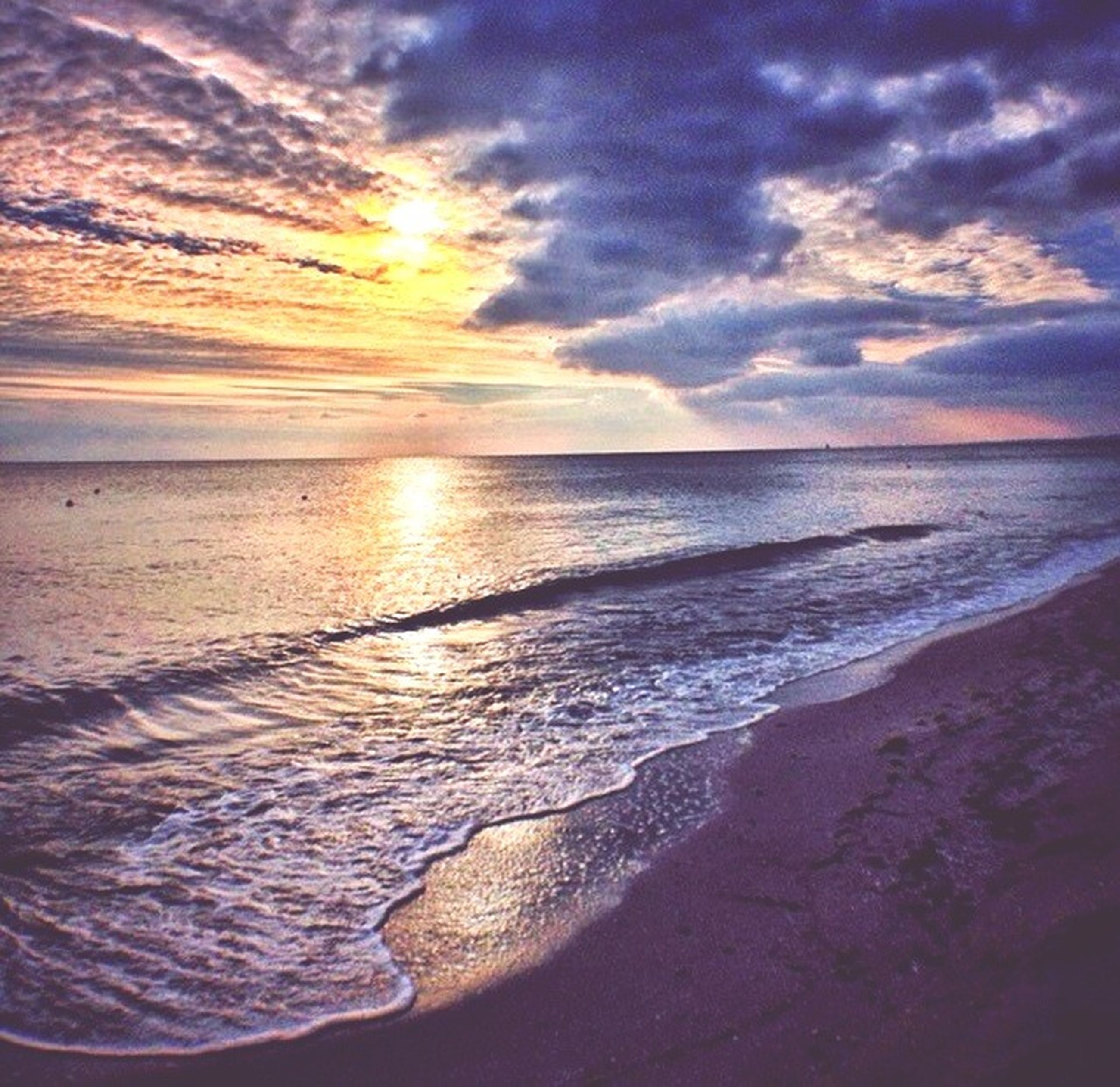 sea, beach, horizon over water, water, scenics, sky, sunset, shore, beauty in nature, tranquil scene, tranquility, cloud - sky, nature, wave, sun, idyllic, sand, reflection, surf, cloudy