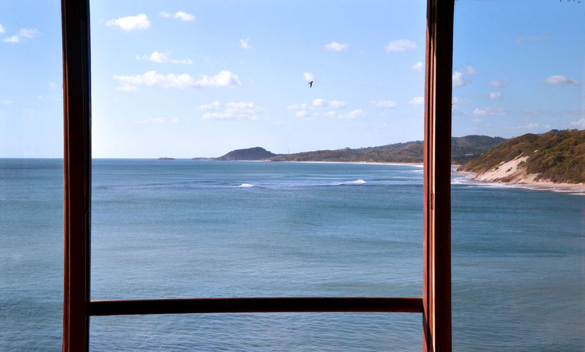 Window view in Nicaragua. Calmness Coastline Contemplation Nicaragua Beauty In Nature Calm Water Day Nature No People Ocean Scenics Sea Shore Sky Tranquil Scene Tranquility Water Window Window View