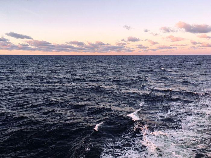 Sea Beauty In Nature Sky Water Wave Cloud - Sky Day Sunrise First Eyeem Photo
