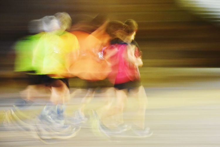 Speed race Motion Blurred Motion Lifestyles Real People People Indoors  Full Length Women Adult Running HUAWEI Photo Award: After Dark