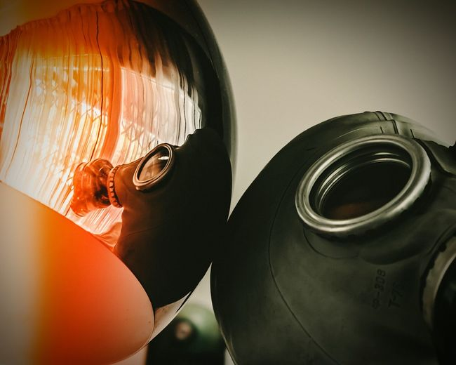 Gas Mask Person One Person Mask - Disguise Indoors  Horizontal Close-up Protective Mask - Workwear People Adult Only Men One Man Only Day Urbanphotography Darkness And Light Urban Abstract Photography Surrealism Surrealist Art Surreal