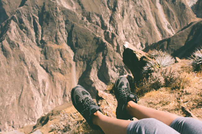 Beauty In Nature Day From Where I Sit Landscape Legs Legs_only Legsselfie Leisure Activity Lifestyles Mountain Nature Non-urban Scene Outdoors Part Of Personal Perspective POV Rock Rock - Object Rock Formation Scenics Tourism Tranquil Scene Tranquility Unrecognizable Person Vacations