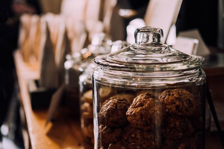 Close-up of jar