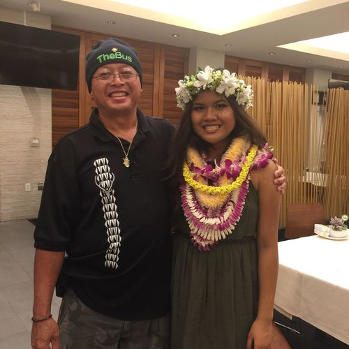 Mahealani's graduation party at Kapolei Golf Course That's Me Hanging Out Enjoying Life
