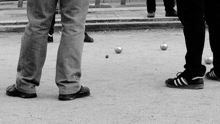 Precision Petanque Player Balls Target Jack Adidas Blackandwhite