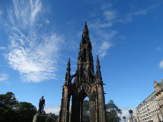 Architecture Clouds Edinburgh Famous Place Low Angle View Scott Monument Sir William Scott Sky Tourism The Purist (no Edit, No Filter)