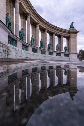 The other side Budapest Hungary Architecture Water Built Structure Sky Reflection Architectural Column Travel Destinations History Cloud - Sky Tourism Travel Outdoors