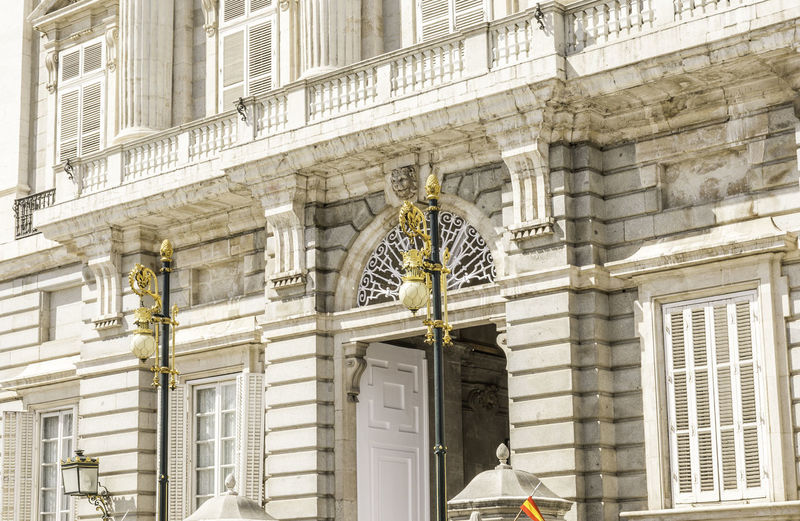 Exterior of royal palace of madrid