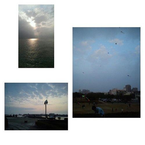 20140228 天氣很好當然要出去走走 ✌ 但是也太多人了吧 滿天的風箏看的好開心 Happy Day 很 爽yitinglovetravel