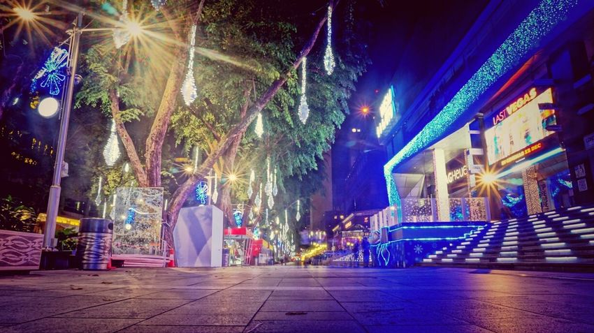 Orchard Road Night Lights