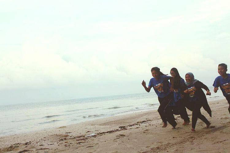 Beach Sand Sea Copy Space Adult Men Fun
