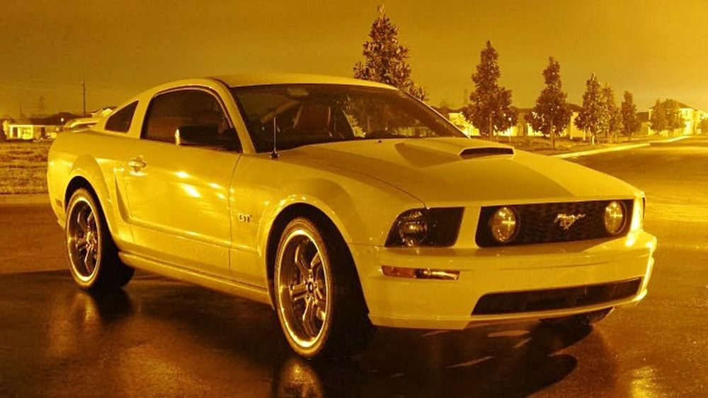 Car Transportation Outdoors Collector's Car Mustang GT Mustang V8 Night Photography No Flash Photograhpy Pony Cars Shelby  Mustang Gt 2007 Storm Photography No People Ford Perspective Photography Long Exposure Night Photography