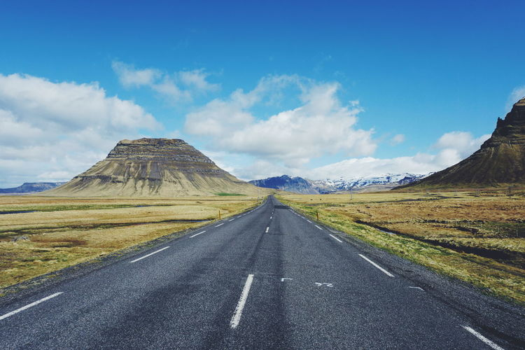 On the road, Iceland Asphalt Beauty In Nature Cloud - Sky Dividing Line Iceland Iceland Trip Iceland_collection Icelandic Nature Icelandic_explorer Icelandtrip Landscape Mountain Nature No People Outdoors Road Road Marking Scenics Snaefellsnes Peninsula Snæfellsnes The Way Forward Tranquil Scene Tranquility Transportation Volcanic Landscape The Great Outdoors - 2017 EyeEm Awards