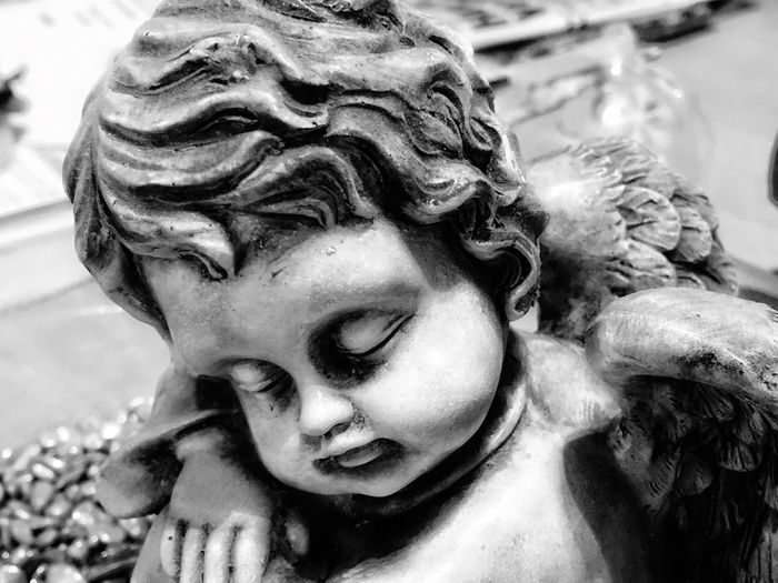 Statue Close-up Sculpture Outdoors No People Built Structure Luxury Face Day Angel Angel Statue Sleeping