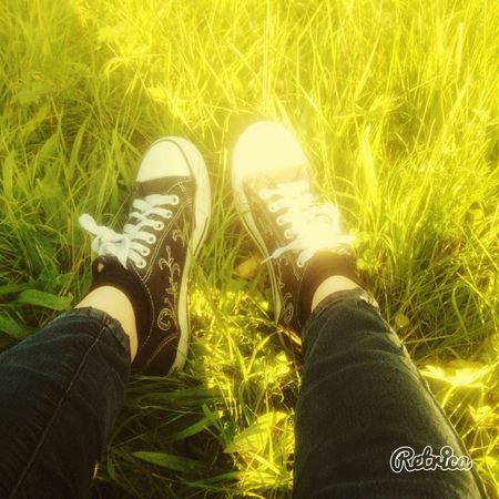 Hanging Out Fileds Grass Nature Shoes Fun Sunny Good Day Taking Photo