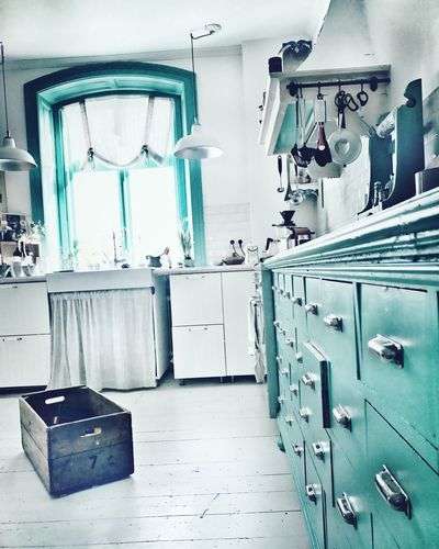 Country kitchen Details Renovation Rustic Myhome Countrykitchen Turquoise Indoors  Design Kitchen