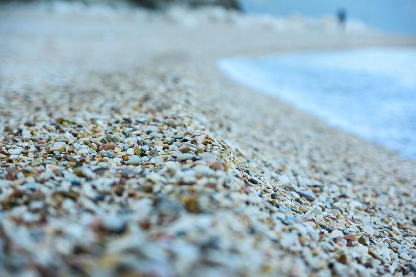 Beach Nature Pebble Beach Sand Sea Shore Surface Level Tranquility