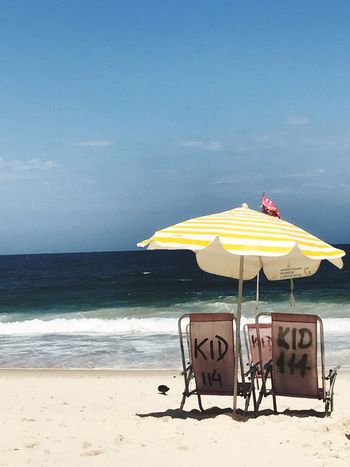 A sunbed at copacabana beach Sunbed Beach Sea Water Sand Nature Chair Sunchair Brazil Brasilien Wather Cobacabana Ipanema Ipanema Beach Summer