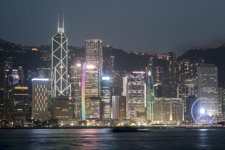 Hong Kong Hong Kong Architecture Hong Kong City Hong Kong Harbour Hong Kong Skyline Long Exposure Night Skyline