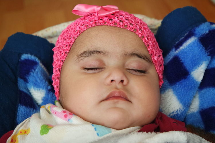 Portrait of cute baby sleeping