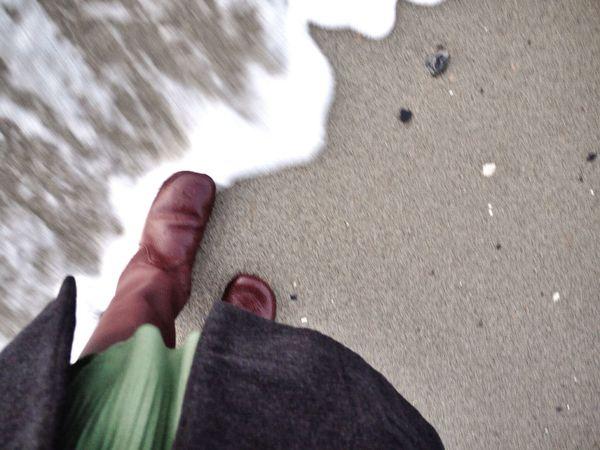 Beach Foot Feet Walking Around