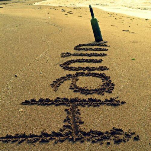 Hanin Myname  Nostalgia Beach sand sea bottle thanku @alimdiab
