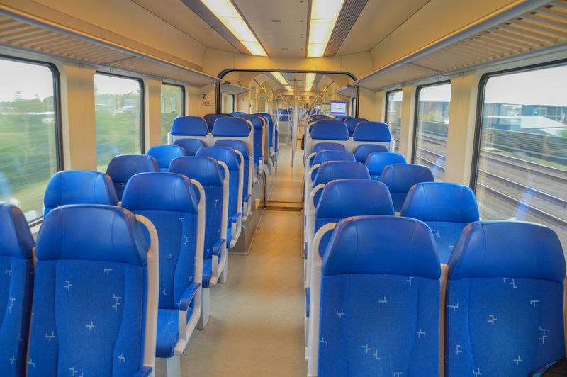 Inside A Dutch Train From The NS At The Netherlands NS Train Netherlands Dutch Empty Inside No People Ns Seat Seats