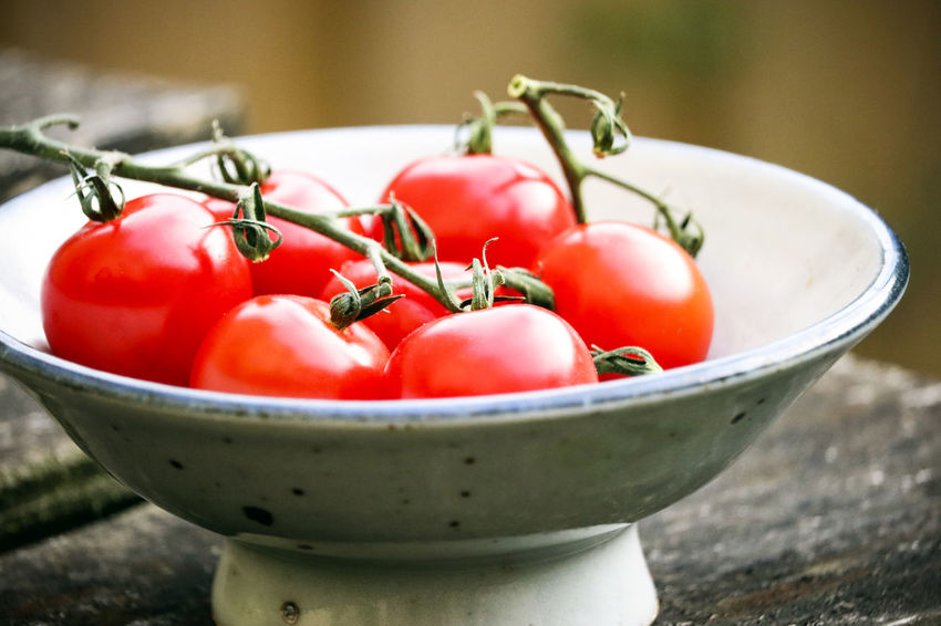 Bowl of tomatoes. Bowl Close-up Container Day Focus On Foreground Food Food And Drink Freshness Fruit Group Of Objects Healthy Eating Nature No People Outdoors Plant Stem Red Ripe Still Life Tomato Tomatoes Vegetable Wellbeing