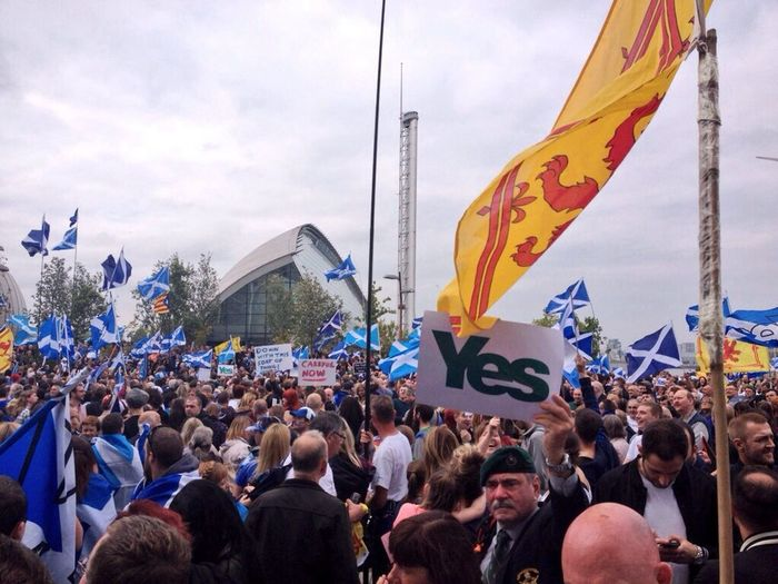Great turnout today in Glasgow for the Bbcbias protest Glasgow  Scotland Proud