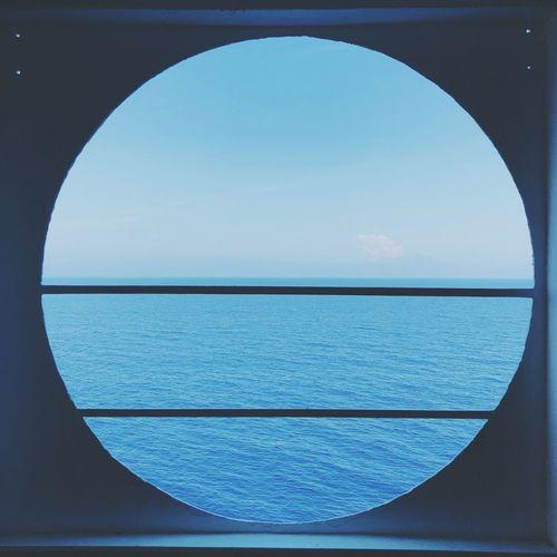 Sky Blue Sea Water No People Geometric Shape Circle