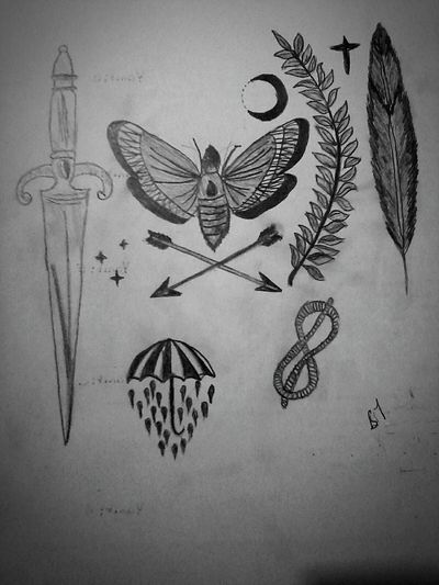 Tail Fall Sword Rain Arrow Night Butterfly Moon