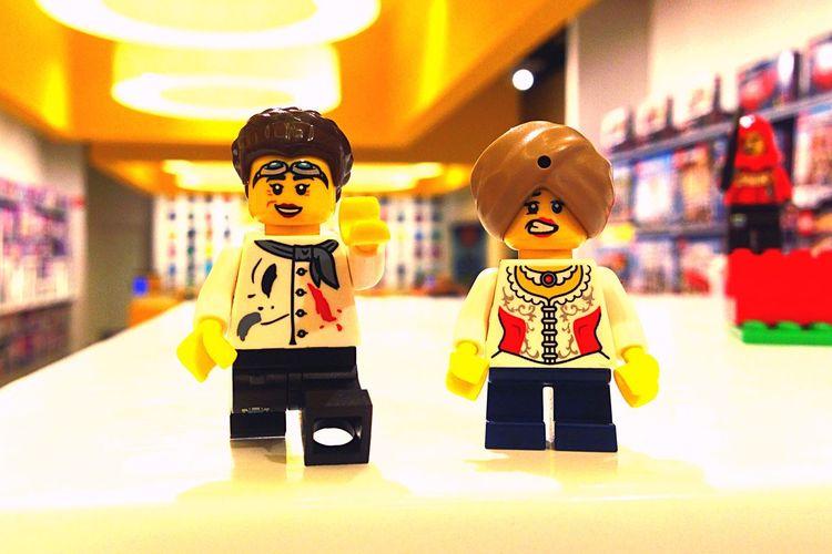 LEGO People Grimasse Grimassen  Intercultura
