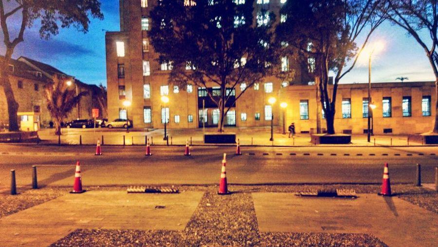 El anochecer en la capital colombiana Bogotá City Citynights Urban