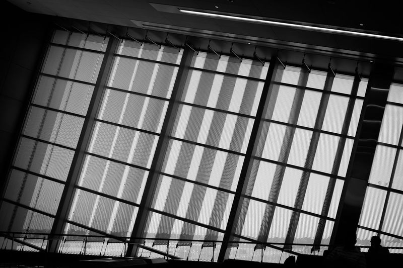 Airport Architectural Feature Architecture Architecture Blackandwhite Bnw Building Built Structure Bw Illuminated Las Vegas Low Angle View McCarran International Airport (LAS) Modern Mono Monochrome Pattern Repetition Sky The Architect - 2016 EyeEm Awards